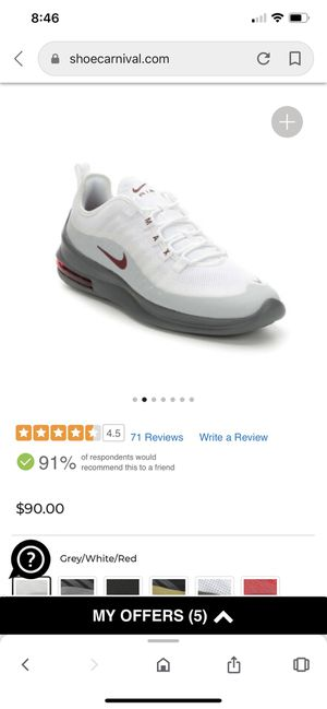 MEN'S NIKE AIR MAX AXIS RUNNING SHOES for Sale in Denver, CO