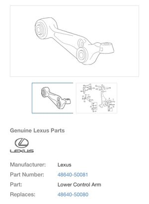 Lexus - Lower Control Arms (Left and Right Lower-Fronts) - Brand New for Sale in Annandale, VA