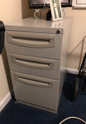 """Sturdy gray metal file cabinet . 15"""" wide, 2 feet deep. $55 for Sale in Boynton Beach, FL"""