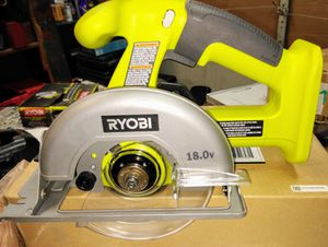 Ryobi One+ P501G 18V Lithium Ion Cordless 5 1/2 Inch Circular Saw (Battery Not included, Power Tool Only) for Sale in Temple, GA