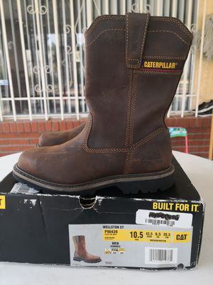 Brand new caterpillar steel toe work boots size 10.5 for Sale in Riverside, CA