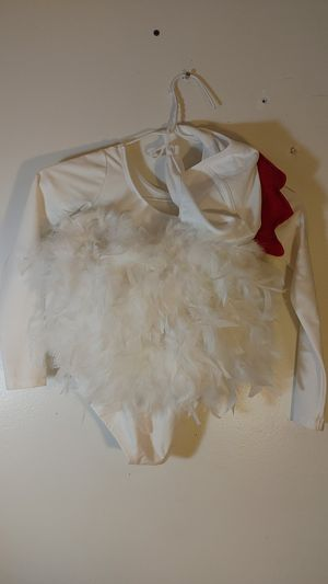 Halloween costume girls small white rooster with hat for Sale in Greer, SC