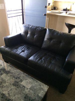 FREE Black Faux Leather Loveseat (Please Read!!!) for Sale in Fullerton, CA