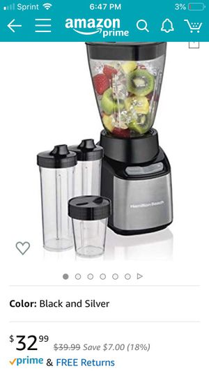 Hamilton Beach Stay or Go Blender with 3 for Sale in New Orleans, LA