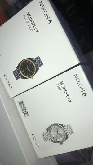 NIXON WATCH Monopoly Black and Gold for Sale in Warren, MA