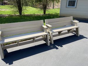 Like new outdoor TWO Convert A Bench Picnic Table for Sale in Stoughton, MA