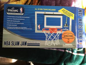 NBA Slam Jam Over The Door Hoop w/ Basketball for Sale in Brooklyn, NY