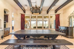 Custom Wood 9' Dining Table & Custom Benches for Sale in Scottsdale, AZ