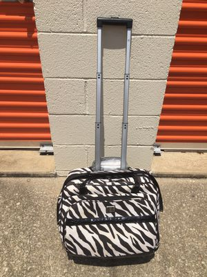 ZEBRA PRINT ROLLING TRAVEL BAG for Sale in Raleigh, NC