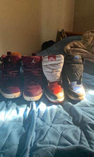 Jordan 1 and Jordan 12 (size 6 and 5) Jordan 1 bring no shoe lace for Sale in Sterling, VA