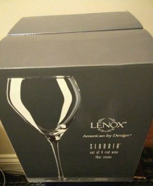 LENOX set of 4 wine glasses for Sale in Hyattsville, MD