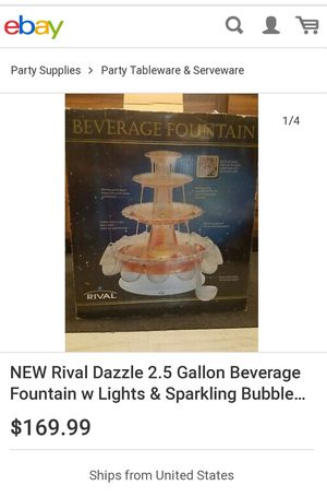 AT HOME ENTERTAINING ELECTRIC BEVERAGE FOUNTAIN (SERVES UP TO 2 1/2 GALLONS OF YOUR FAVORITE PUNCH OR MIXED DRINKS). for Sale in San Diego, CA