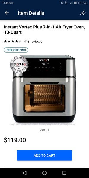 Instant vortex plus 7 in 1 air fryer oven 10 quart- brand new for Sale in Naperville, IL