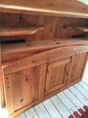 Solid wood bed with storage , triple dresser with mirror for Sale in Raeford, NC