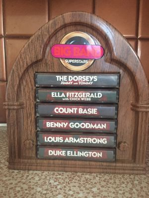 Big Band Superstars Cassette Tapes in Jukebox Stand for Sale in Aberdeen, WA