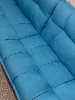 Blue Couch - Folds Out To A Bed And Into Cube For Storage for Sale in Oakland,  CA