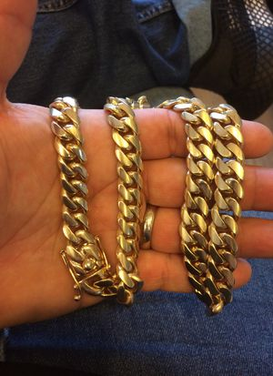 213g 14kt 21inch Miami Cuban Link Chain for Sale in Fort Pierce, FL