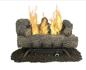 "Pleasant Hearth 18"" 30,000 btu dual burner vent-free gas log fireplace for Sale in Marietta, OH"