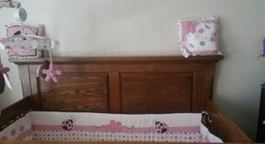 Cherry oak baby crib for Sale in Denver, CO