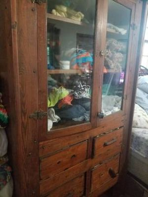 Antique cupboard..good for blankets..China erc for Sale in Miami, FL