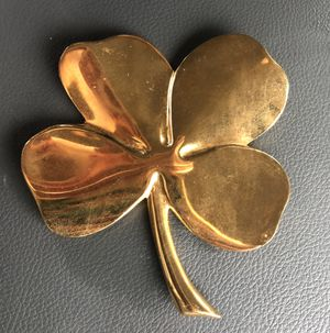 Gerity four leaf clover paperweight 24K electroplate for Sale in Longwood, FL