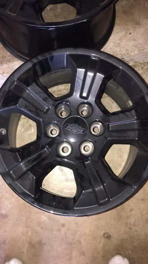 18 in black Chevy rims for Sale in Oak Point, TX