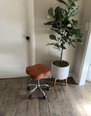Orange fabric Mid Century desk chair for Sale in Murfreesboro, TN