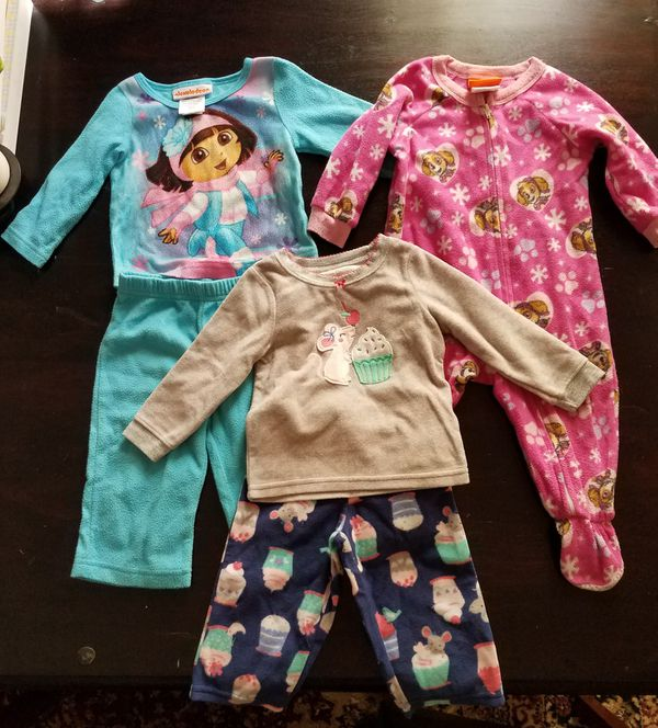 12 months pajamas fleece