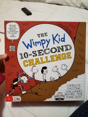 THE WIMPY KID 10-SECOND CHALLENGE BOATD GAME for Sale in Fontana, CA