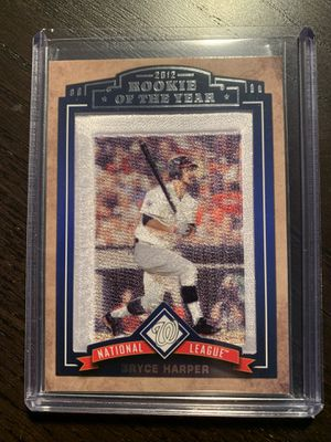 Bryce Harper patch card #'d out of 1000 for Sale in Bridgewater, MA