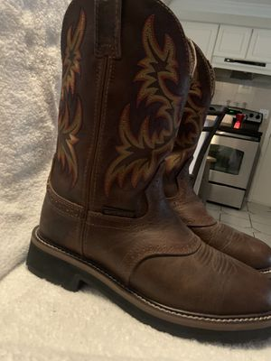 Brand new never worn Justin work boots men's size 7 1/2d. for Sale in Hudson, FL