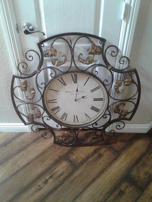 Beautiful metal clock for Sale in North Las Vegas, NV