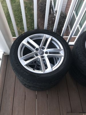 18's Audi A4 rims with tires for Sale in Noblestown, PA