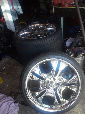 20 inch chrome wheels and new tires for Sale in Vallejo, CA