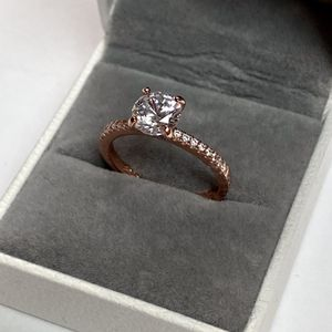 NEW! 2CT. White Topaz Round Brilliant Solitaire, Rose Gold Sterling Silver S925 Bridal Ring, Please See Details for Sale in Redlands, CA