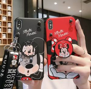For iPhone 11 Pro Max XS 7 8+ Cute Minnie Mickey Strap Case Cover & Stand Holder for Sale in Anaheim, CA