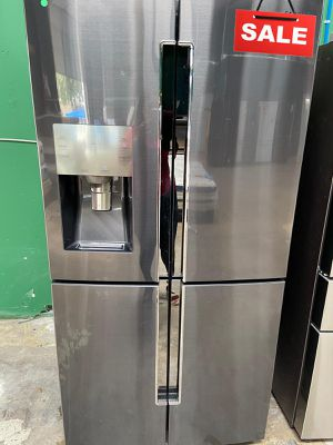 Samsung Refrigerator Fridge Black Stainless AVAILABLE NOW! #1525 for Sale in San Antonio, TX