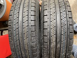 2) ST225/75/15 Carlisle Radial Trail Trailer Tires. Brand New Load range E $160 for both I carry other sizes as well for Sale in Ridley Park, PA