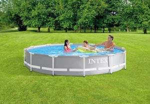 Intex 12ft x 30in Prism Metal Frame Above Ground Swimming Pool w/ Pump for Sale in Orlando, FL