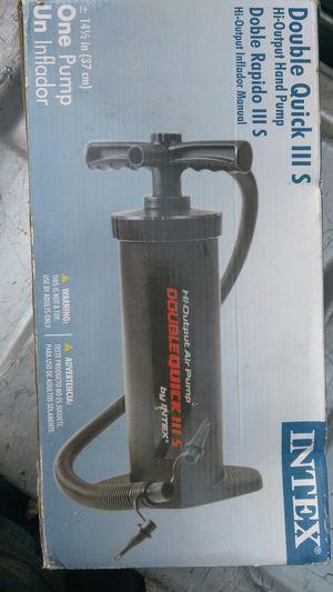 INTEX Double QUick hand pump for Sale in Lauderhill, FL
