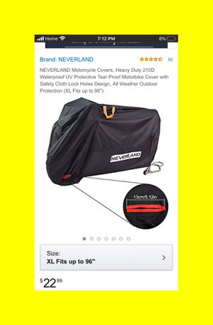 "Neverland XL Motorcycle cover 96"", 2 Holes for locks, motorcycle gear, Motorcycle, XL-245*105*125cm, Moped Cover, Moped gear, Moped, Bike Cover, Bik for Sale in Long Beach, CA"