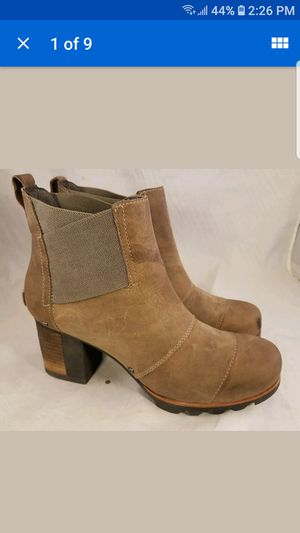 SOREL ANKLE LEATHER BOOTS SIZE 9/40 for Sale in Las Vegas, NV