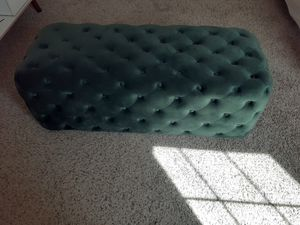Dark green velvet ottaman , dark green director's chair and a black framed mirror for Sale in Macon, GA
