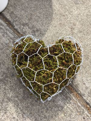 Handmade Rustic Moss heart/ Moss shape for growing succulents for Sale in Sunnyvale, CA