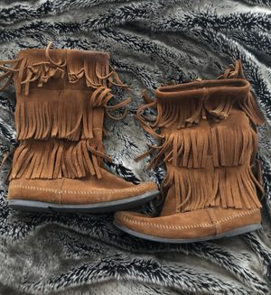 Fringe Suede Brown Boots for Sale in Lubbock, TX