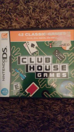 CLUB HOUSE Games (Nintendo DS) for Sale in Lewisville, TX