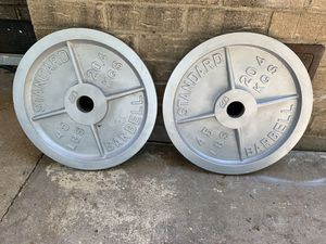 """45 lb weights 2"""" for Sale in Arlington, TX"""