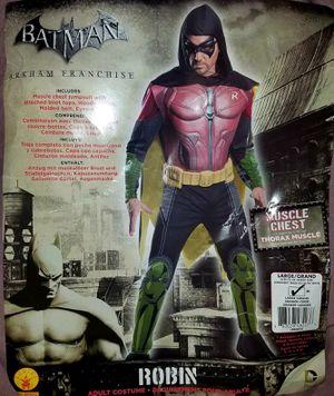 Adult Mens DC Comics Arkham City Origins Asylum Muscle Robin Halloween Costume SZ Large for Sale in Pinellas Park, FL