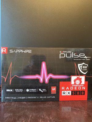 Sapphire Pulse RX 580 8gb GDDR5 OC for Sale in Peoria, AZ