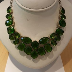 Sliver Green Crystal Necklace for Sale in Carpentersville, IL